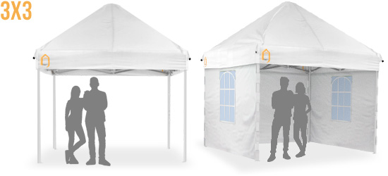 Carpa plegable BigFoot de 3x3 m